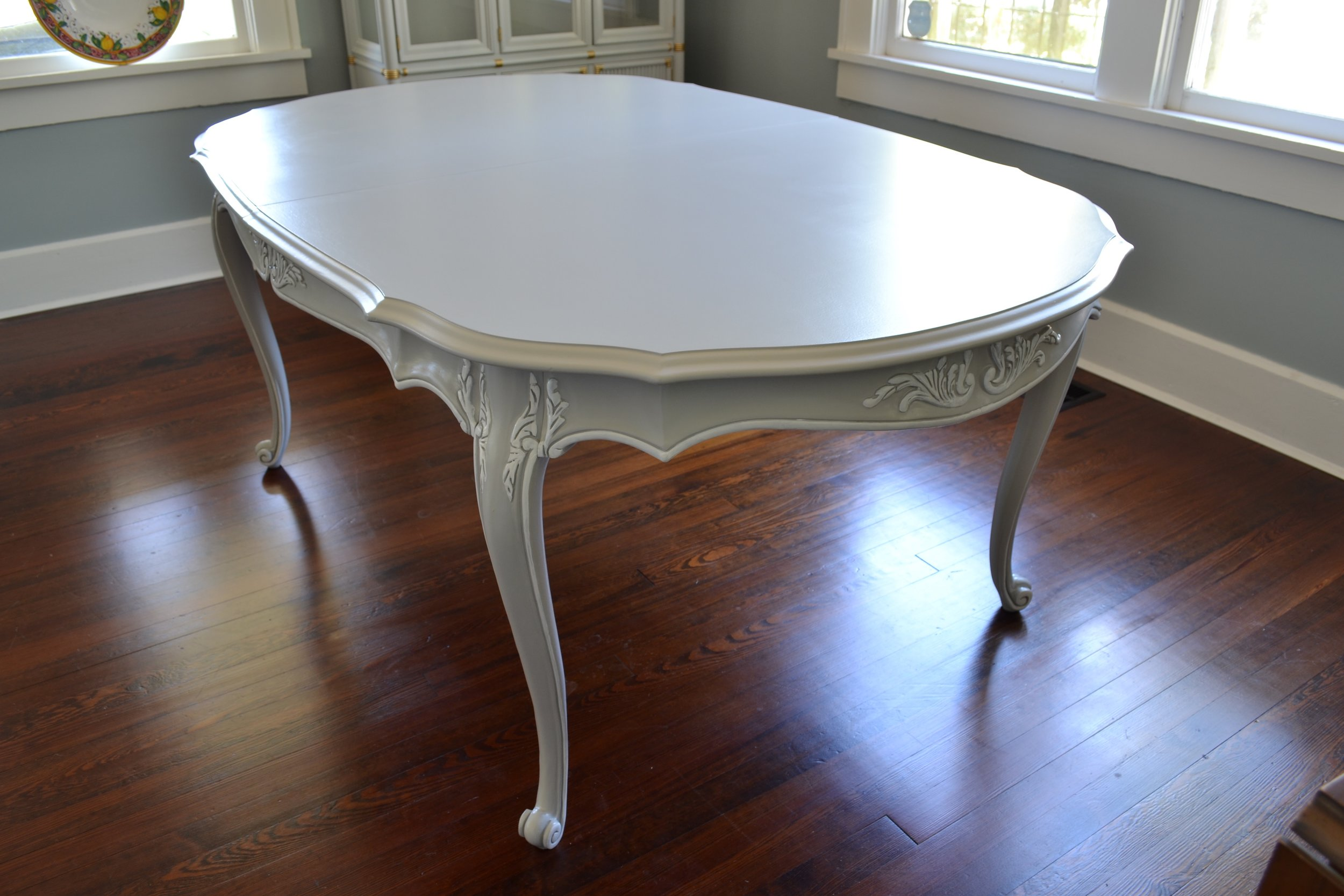 Painted French Vintage Dining Table
