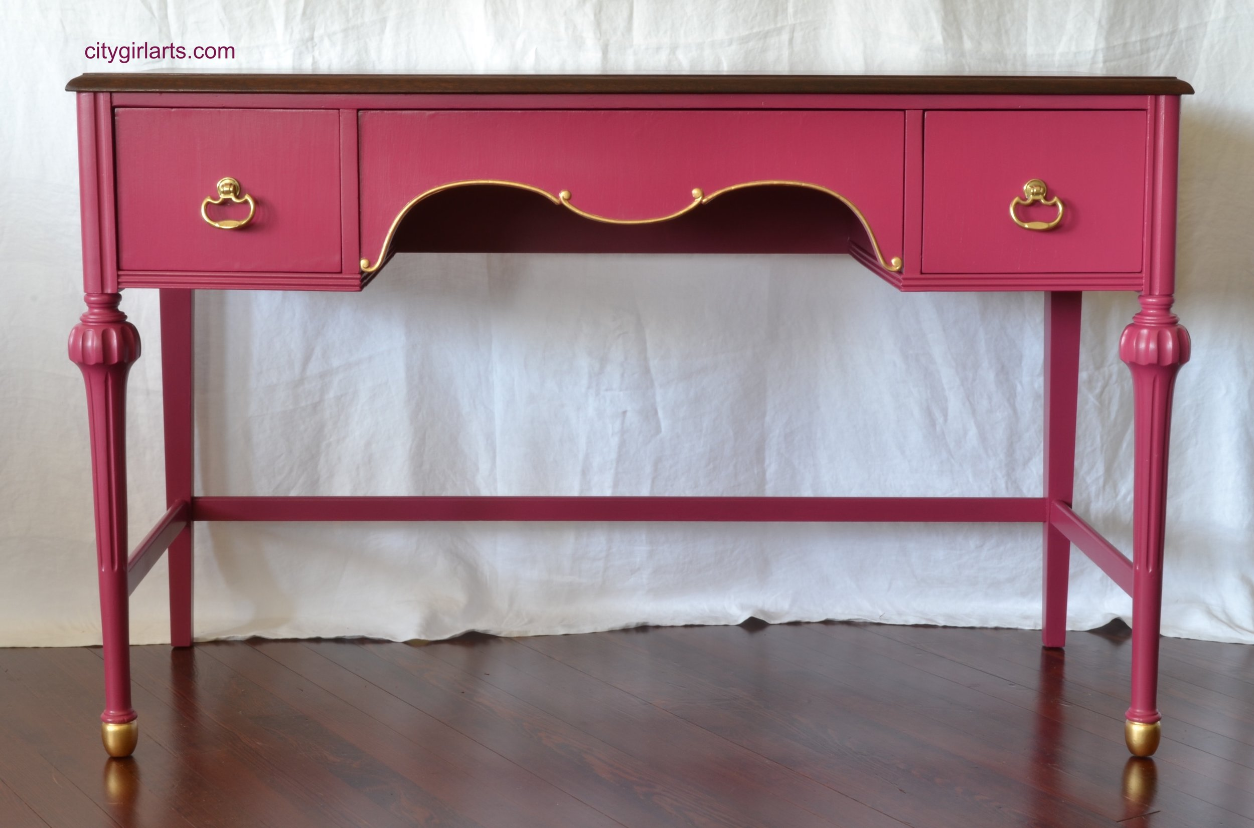Pink Writing Desk