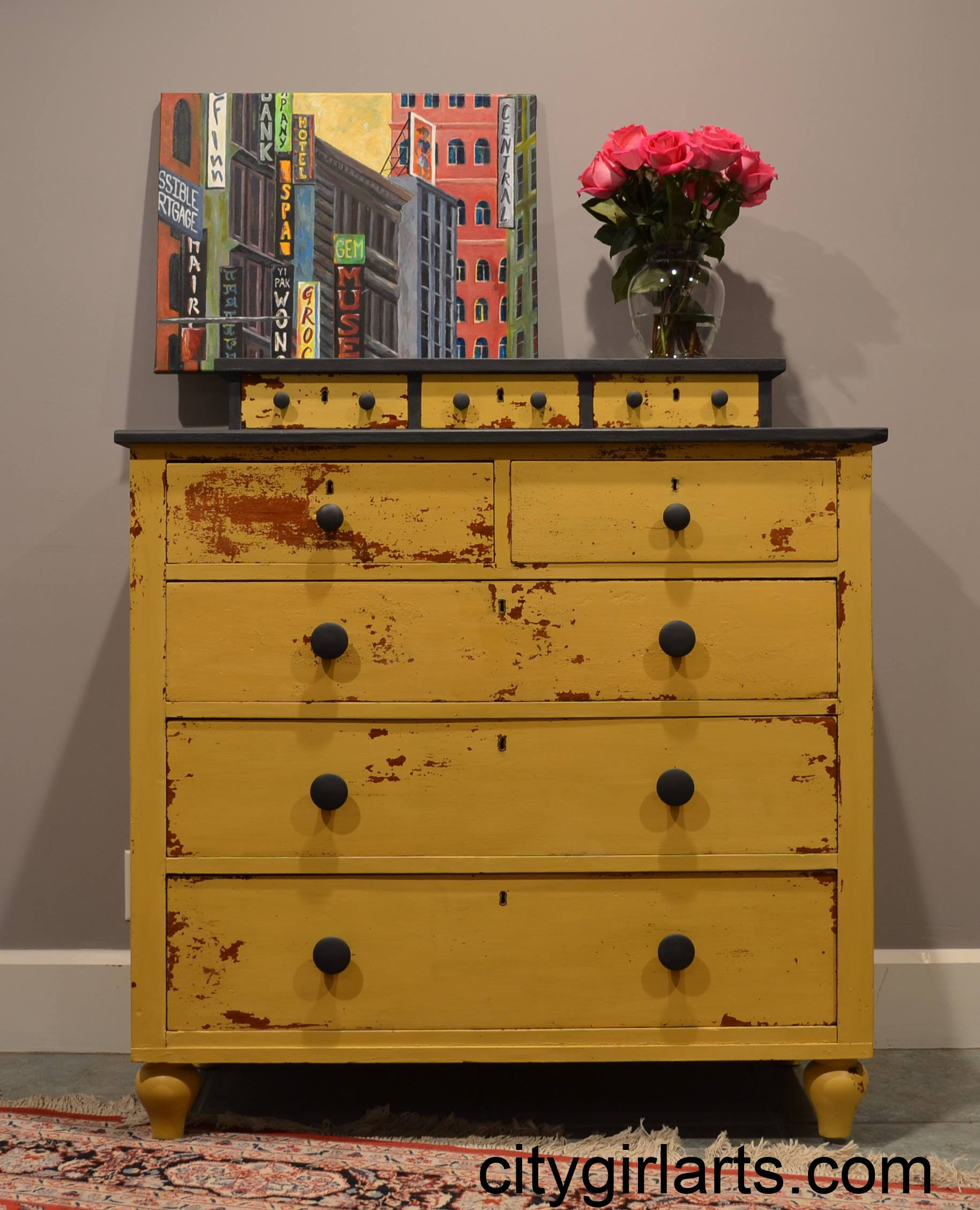 Antique Milk Painted Dresser