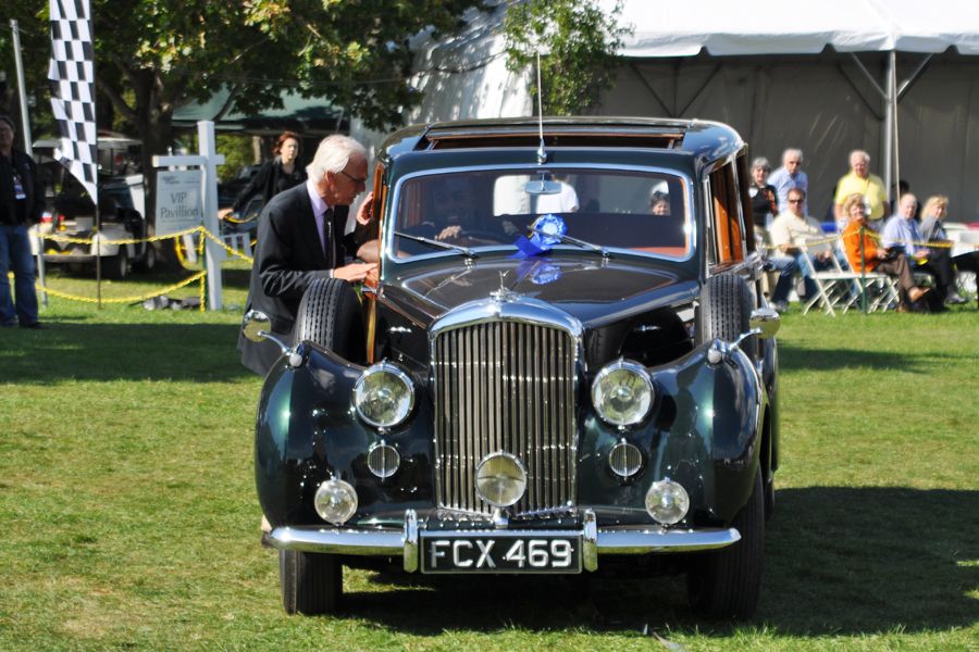 """Later in the day, Andy Bennenson and Elizabith Jensen take a class win in Bentely MK6 Continental Touring Salon from Harold Radford Coachworks."