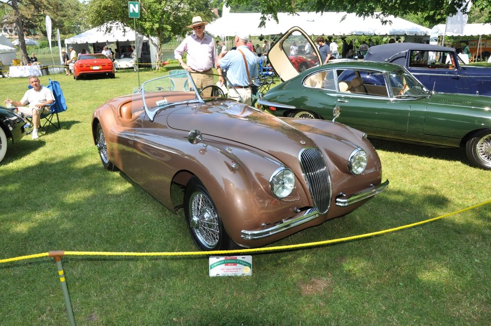 Andy Bennenson, Elizabeth Jensen and their Jaguar XK 120 found the field fine for Sunday's festivities.