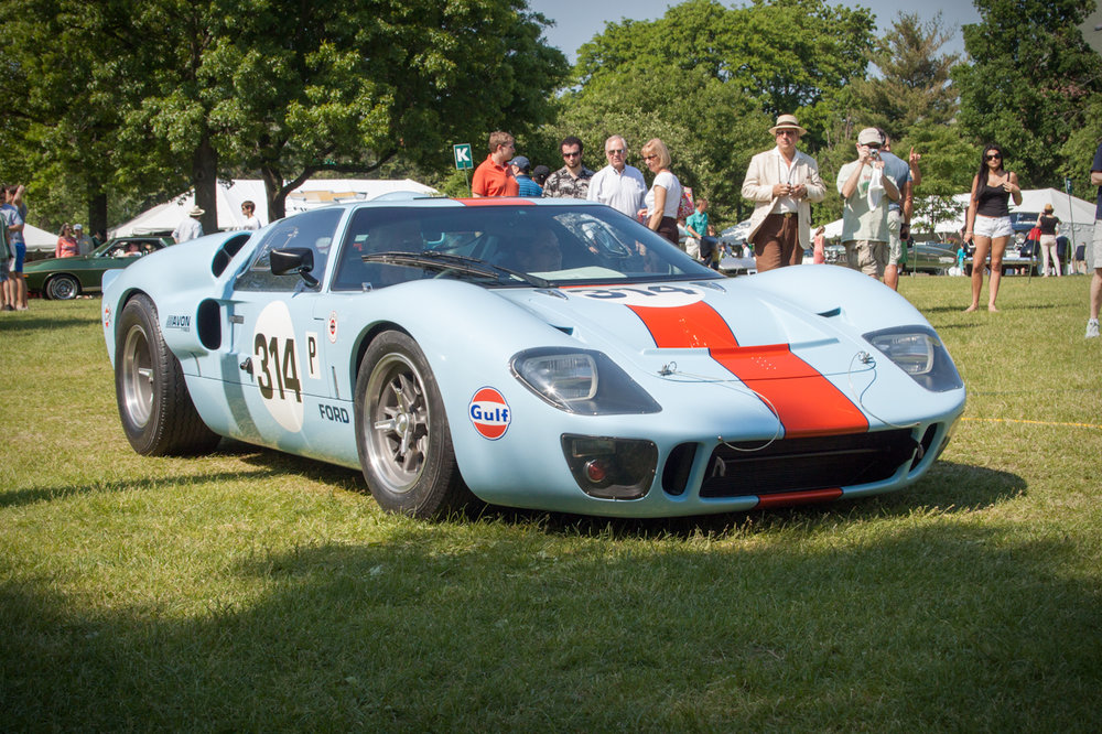 Staffer Michael Silverstein exhibited his sanction 2 Ford GT 40 in full Gulf equipped livery