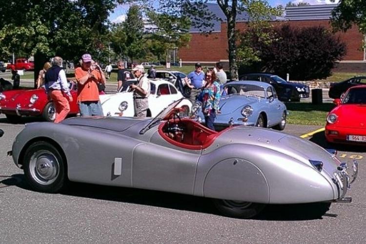 Bill Scheffler's silver 120 Roadster