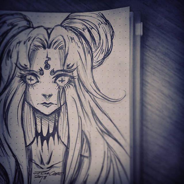 🔥 possessed 🔥 #inktober #halloween #draw #drawing #sketchbook #sketches #sketch #illustration #blackandwhite #blackwork #art #artistsoninstagram #oc #originalcharacter #originalart #pencil #darkart #darkstyle #gothic #androgynous #genderless #manga #animeart #anime #イラスト #イラストレーション #黒  #アニメ #グロ #ハロウィーン