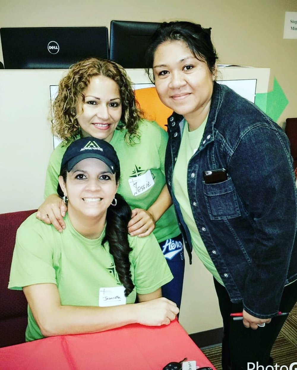 Our staff volunteering at a free local medical clinic
