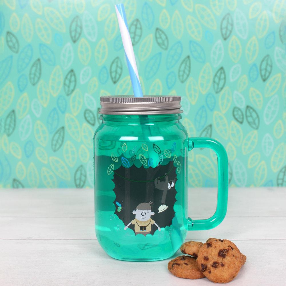 Jungle adventure drinking jar
