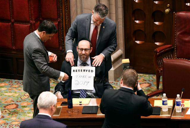 One More Thing Simcha Felder Wants To Block: His Primary Challenger - State Senator Simcha Felder is a Democrat from Brooklyn who gives Senate Republicans their one-seat majority. Felder, who has stymied New York City's plastic bag fee, the New York Dream Act, and most recently the city's school zone speed cameras, is now trying to block his opponent in the Democratic primary, attorney Blake Morris. (Gothamist, 8/3/18)