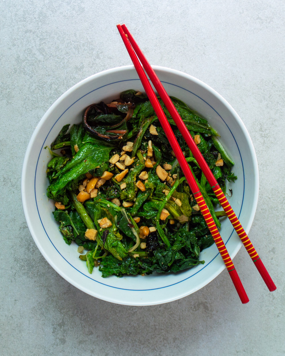 stir-fried greens