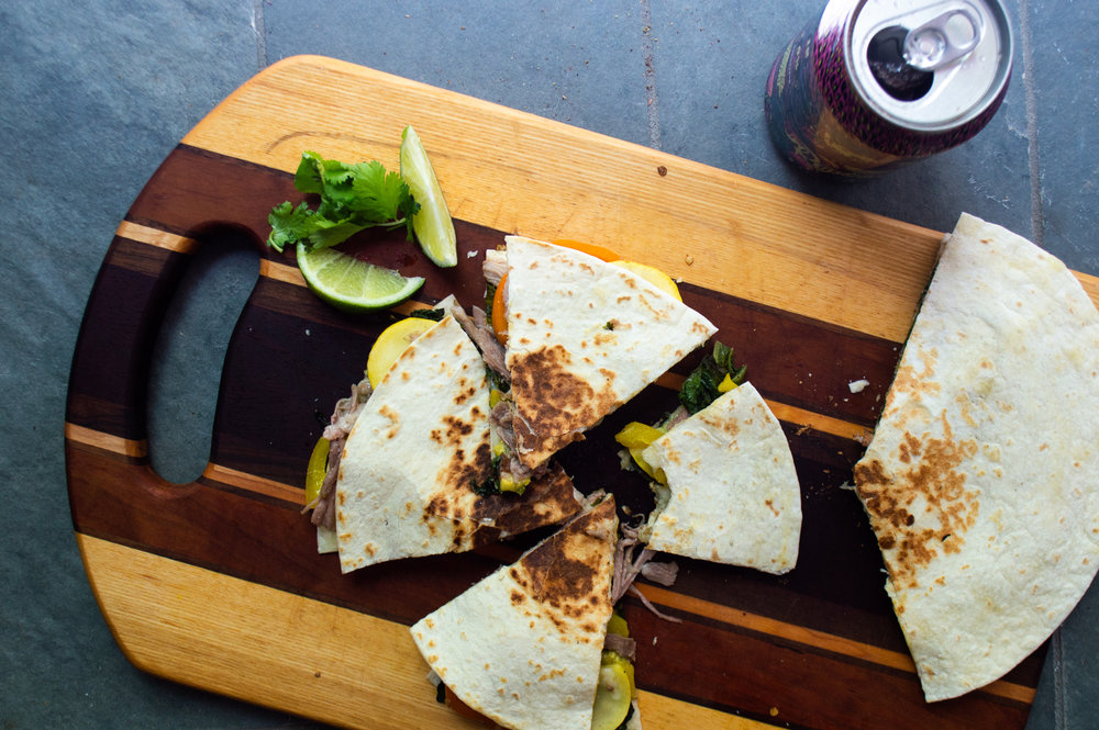 you can put anything in a quesadilla