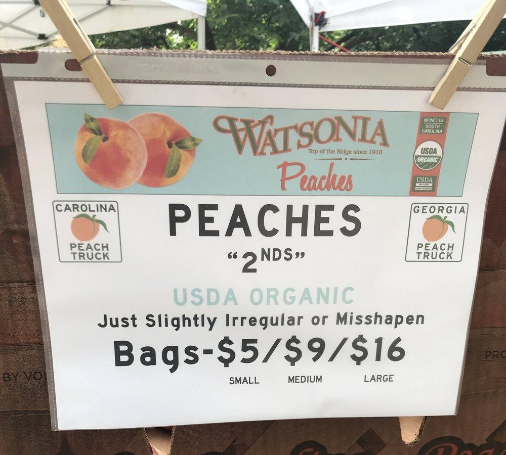 irregular or misshapen peaches