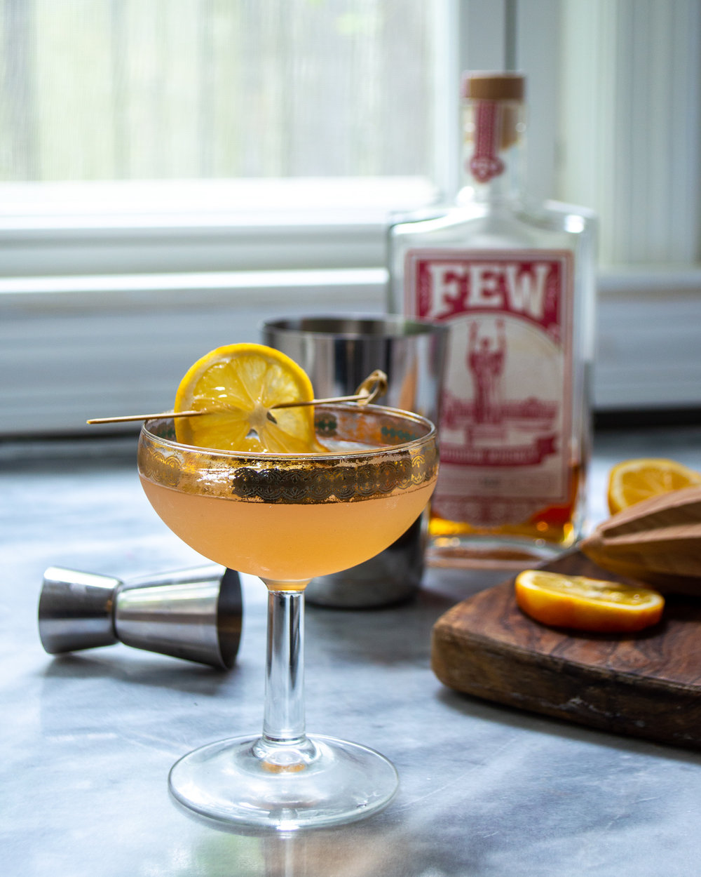 meyer lemon bourbon sour