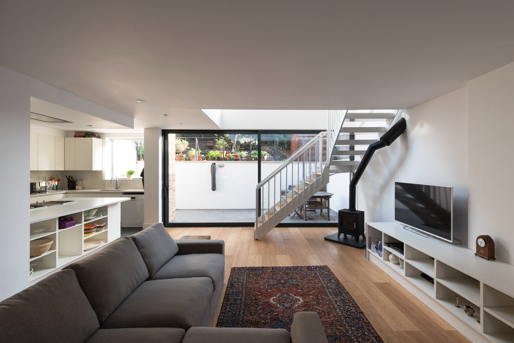 Clapham House Living Room - MW Architects