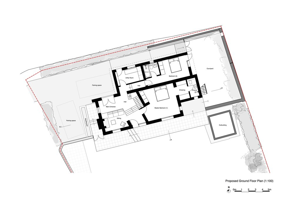 P1.0 Proposed Ground Floor Plan _ Layout (Simplified Black and White).jpg