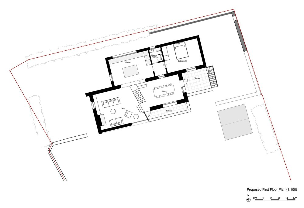 P1.1 Proposed First Floor Plan _ Layout (Simplified Black and White).jpg