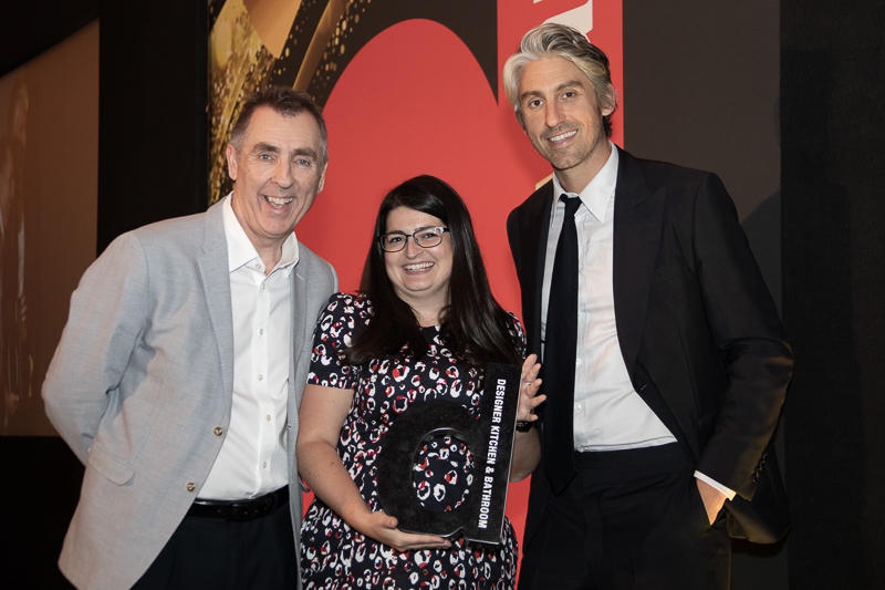 Melissa Robinson of MW Architects picking up our award
