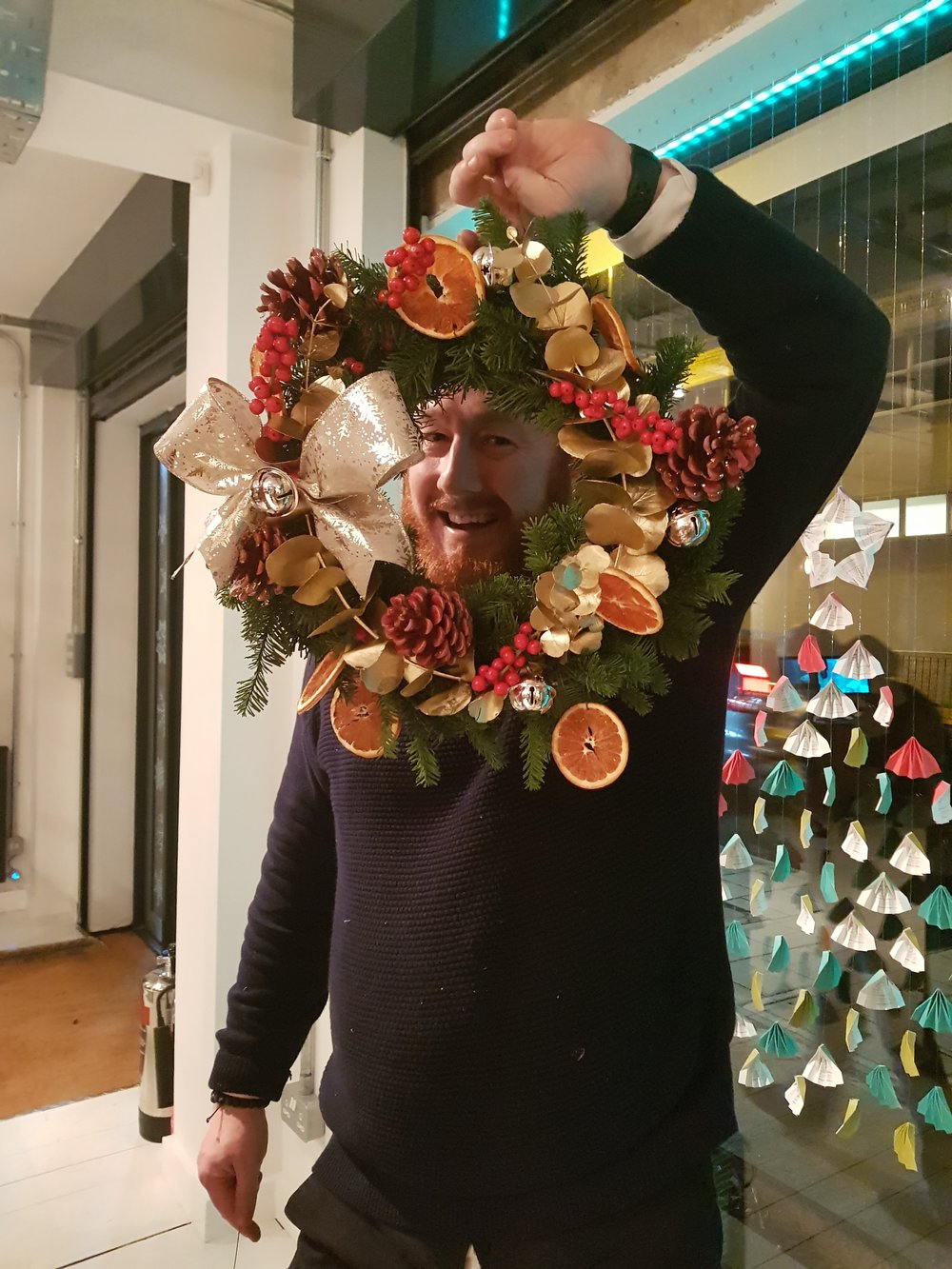MWA Barry and his wreath