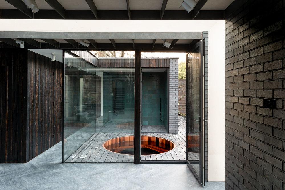 Yoga Dojo Internal Courtyard - MW Architects