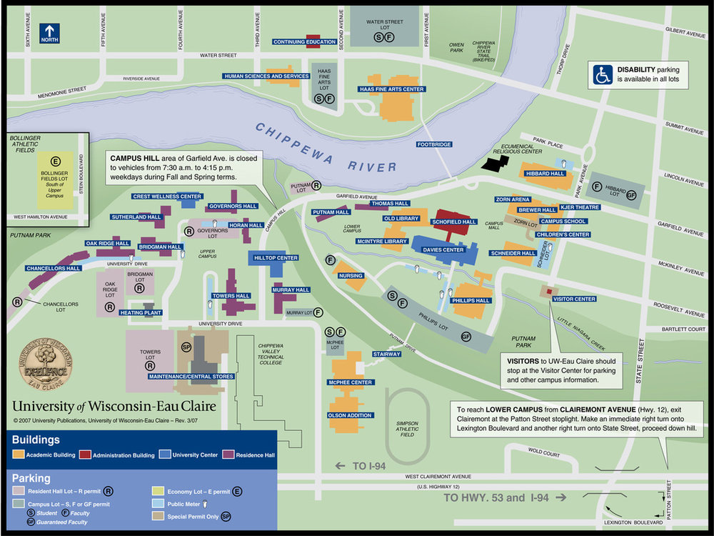 Venues Map Chippewa Valley Book Festival