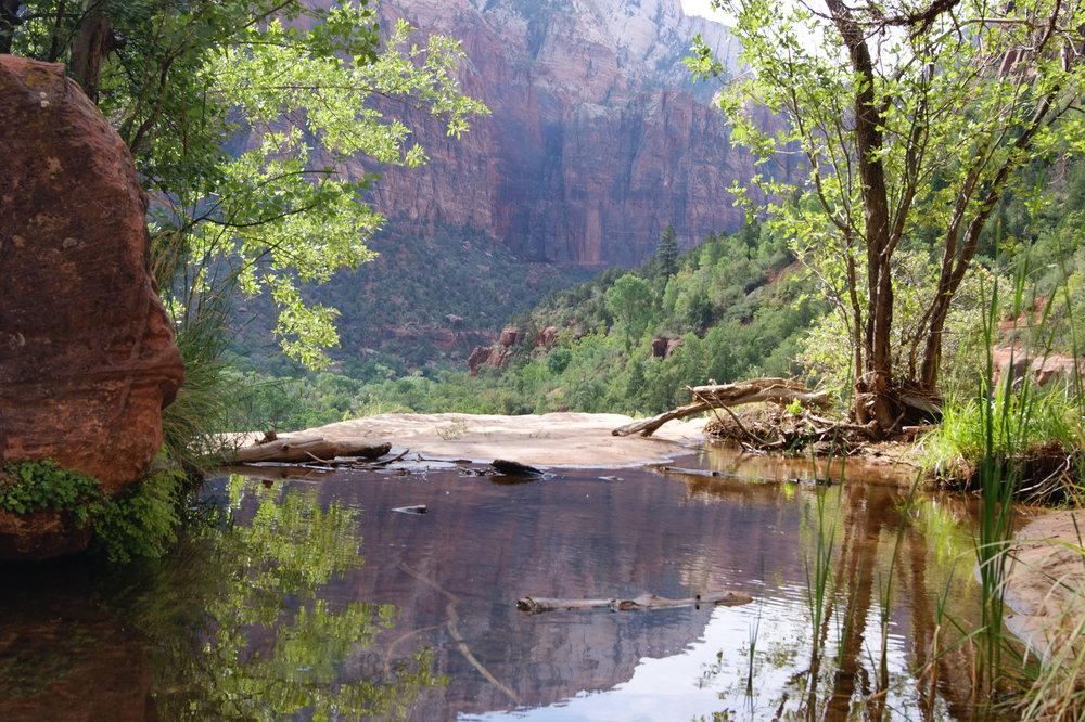 emerald pools hike trail travel