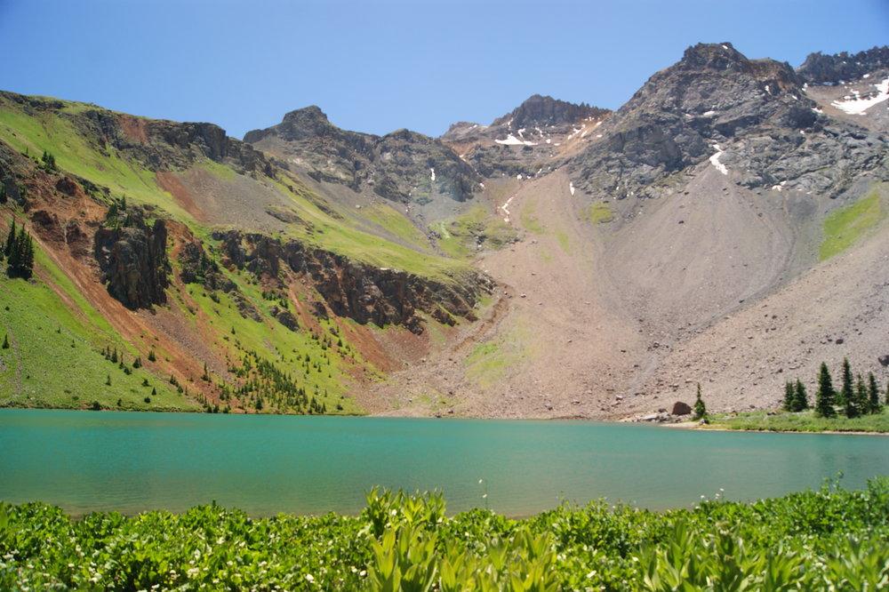 telluride colorado blue lakes trail