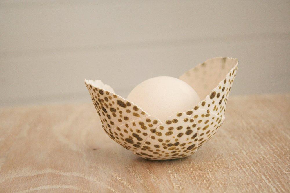 Nest #, porcelain sculpture