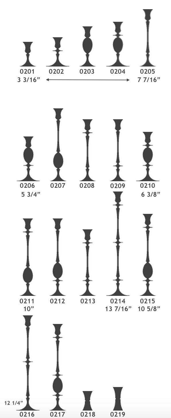 Biedermeier Candlesticks : ER Butler DIMENSIONS.png