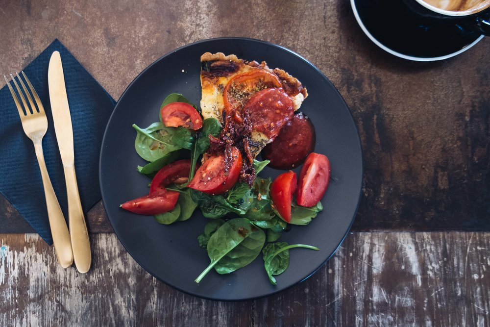 Quiche Lorraine with Summer Salad