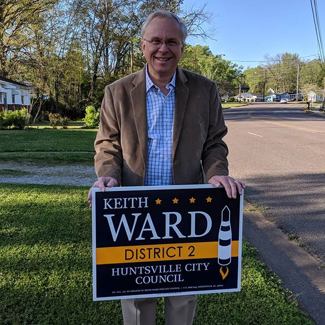 It's official! I'm running for Huntsville City Council District 2! More information coming soon to my site http://keithward.works #keithwardworks
