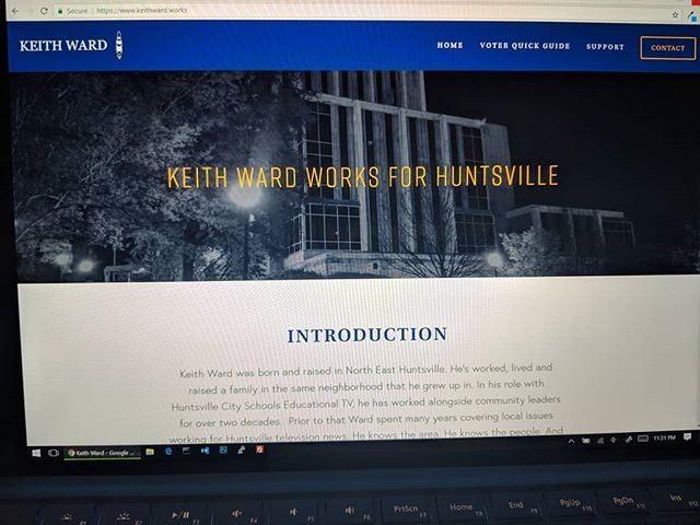 I'm happy to announce the website is live! #keithwardworks #hsvdistrict2 http://keithward.works