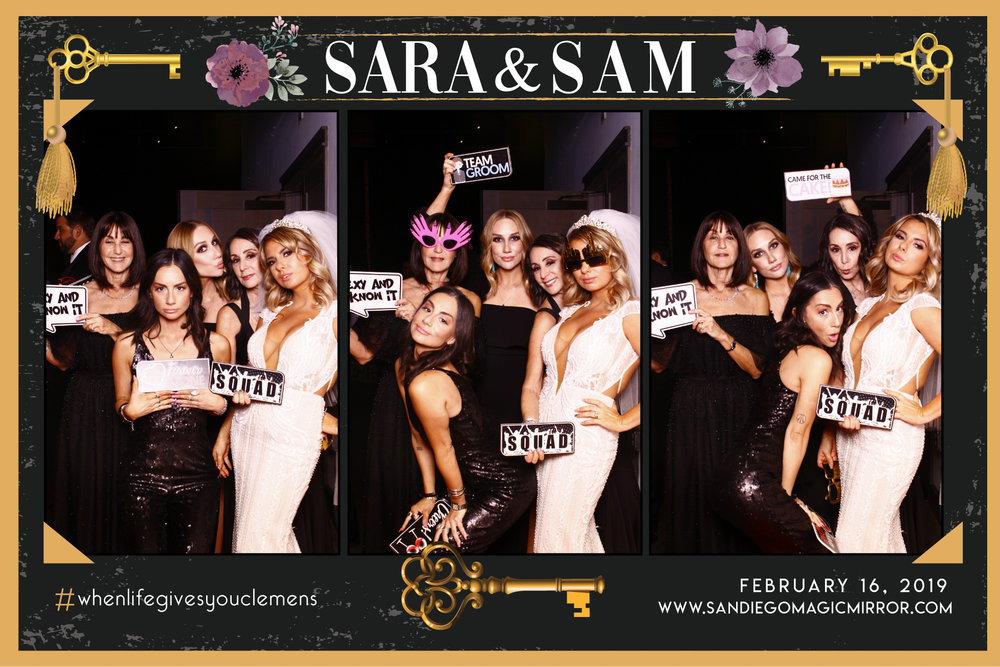 Magic Mirror Photobooth at Herb & Wood Wedding