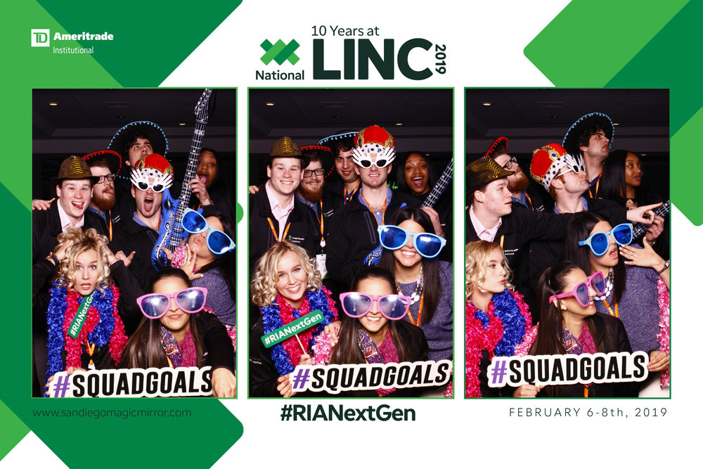 Magic Mirror Photobooth at LINC & TDAmeritrade at The Grand Hyatt
