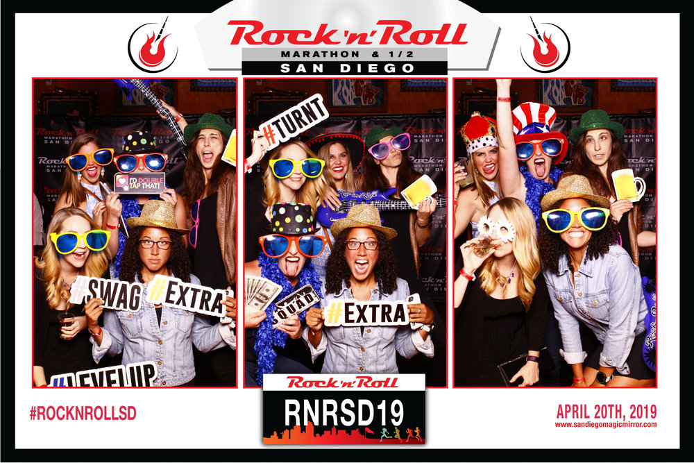 San Diego Magic Mirror Photobooth for Rock N' Roll Marathon Kick off Party in San Diego, CA 2019