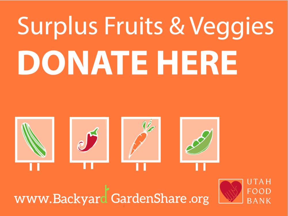 Backyard GardenShare - Donation Signs