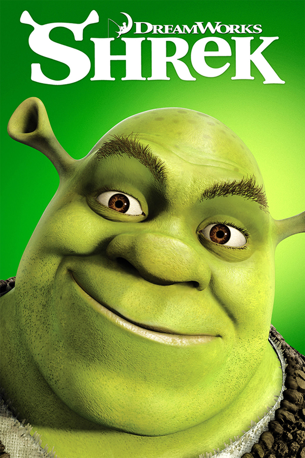Just the basics — no frills, nothing extraneous. This  SHREK  poster works well when small, and counts on name recognition or user curiosity to click and learn more.