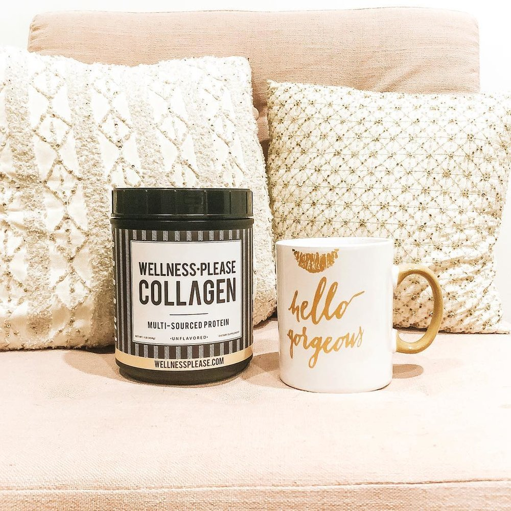 """Kicking it off with my morning routine of some  @wellnessplease collagen: great for boosting energy, hair/nail growth, and overall health!""  - TheLivStyle  Instagram"