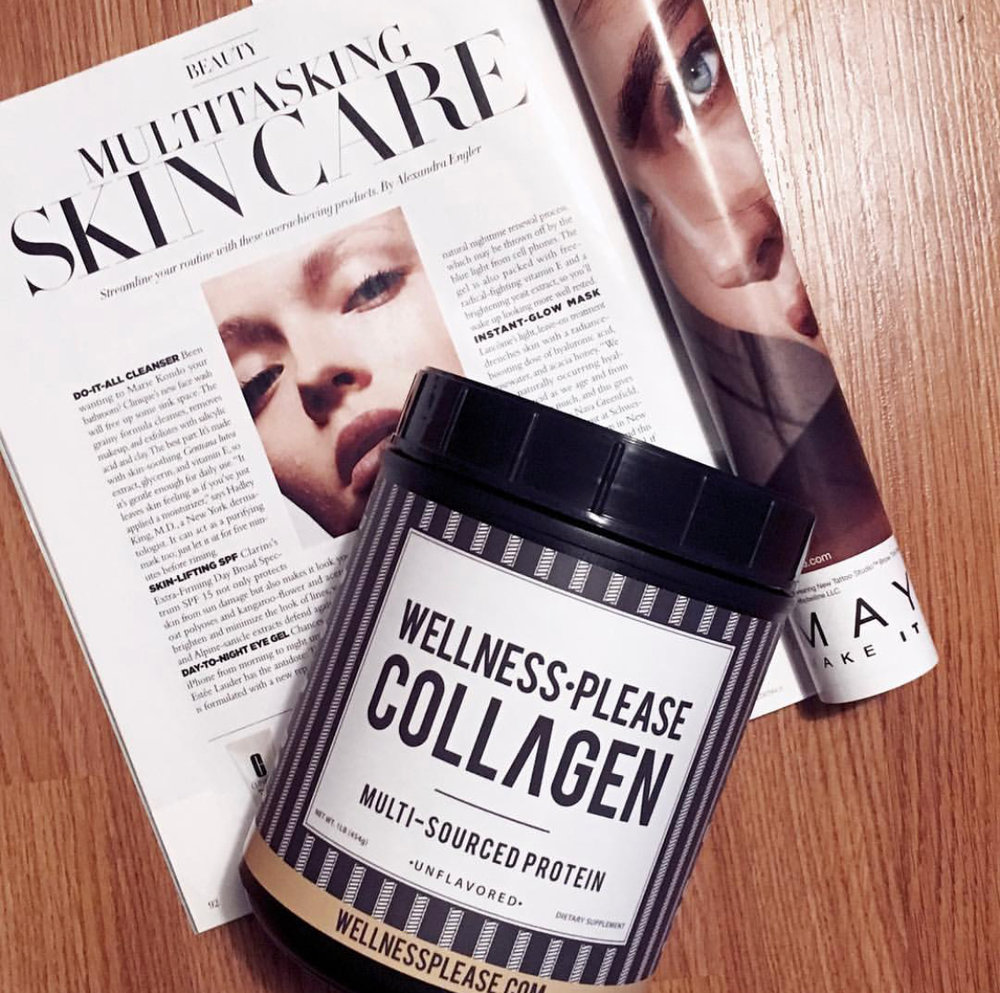 """The real secret of skincare is to add Collagen to you diet."" - Ale.Harnish Instagram"