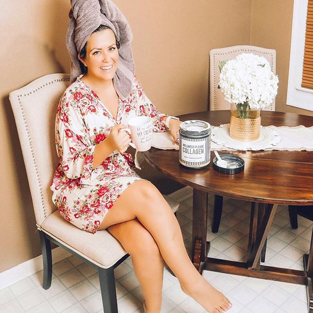 """""""It helps restore firmness in skin and supports healthy hair & nail growth. Starting my day with  @wellnessplease  collagen in my coffee is literally my favorite five minutes of the day."""" - FashionatelyMe Instagram"""