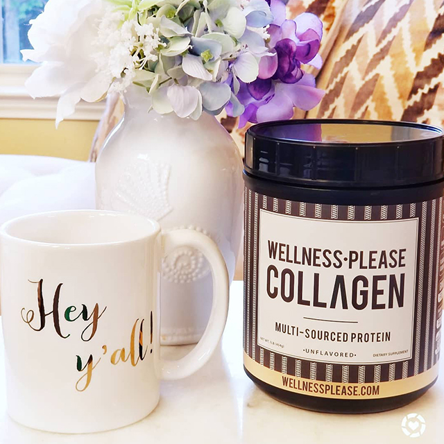 """""""Collagen is a glow-getting protein that makes 40% of the protein in our bodies, but by early 30s we start to lose the natural amount in our bodies."""" -  Avanifashionbeautydecor  Instagram"""
