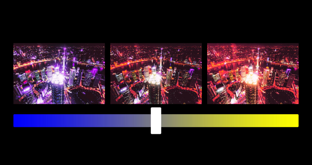 You choose the balance. - Control the color balance with white balance. These presets are engineered to respond to your white balance setting.