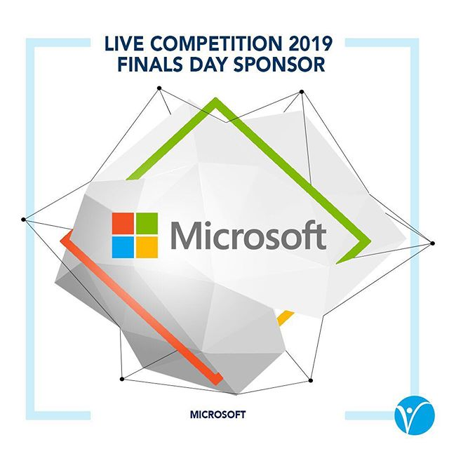 We are pleased to announce that Microsoft is our FINALS DAY Sponsor! By competing at LIVE Competition 2019, you will meet judges and mentors from Microsoft! In addition, the First Place team will win 4 SURFACE GO's!  What are you waiting for?! Impress Microsoft at LIVE Competition.  Registration ends tomorrow at midnight. Visit www.live-competition.org for more details! #DareToCompete