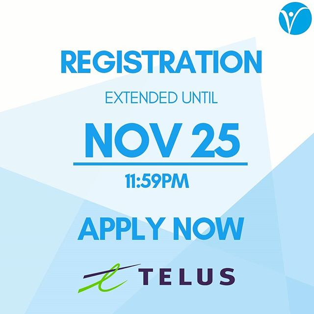 LIVE 2019 is proud to announce our newest Silver Sponsor, Telus! Don't miss your chance to network with Telus, and even more sponsors at this year's competition.  REGISTRATION IS NOW EXTENDED TO NOVEMBER 25TH 11:59PM!  Register now at https://live-competition.org/