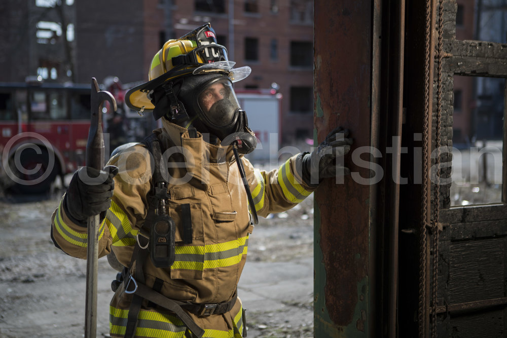 Viking Fire Firefighter Action Photography