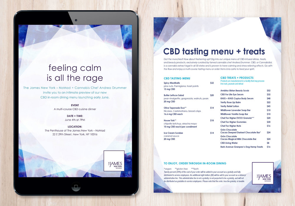 CBD INVITATION & MENU