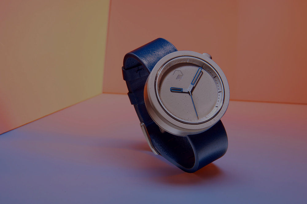 ag·gre·gate watches - Aggregate was a product venture where we sought to experiment with an unconventional material - concrete. Featured in publications such as GQ and Business/Design Insider