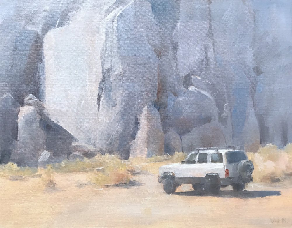 Jeep Cherokee in Alabama Hills