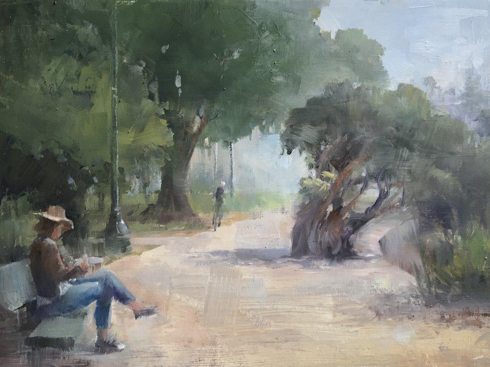 Painter at Lake Merritt