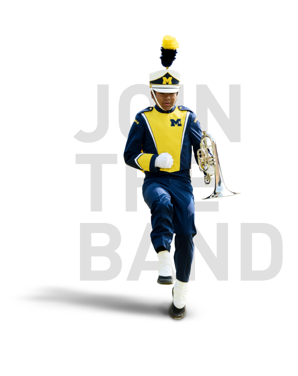 JOIN THE BAND - The Michigan Marching Band is open to all UM students including Dearborn and Flint. If you are a transfer student or current UM student as well as an incoming freshman you are welcome to audition for the Band.