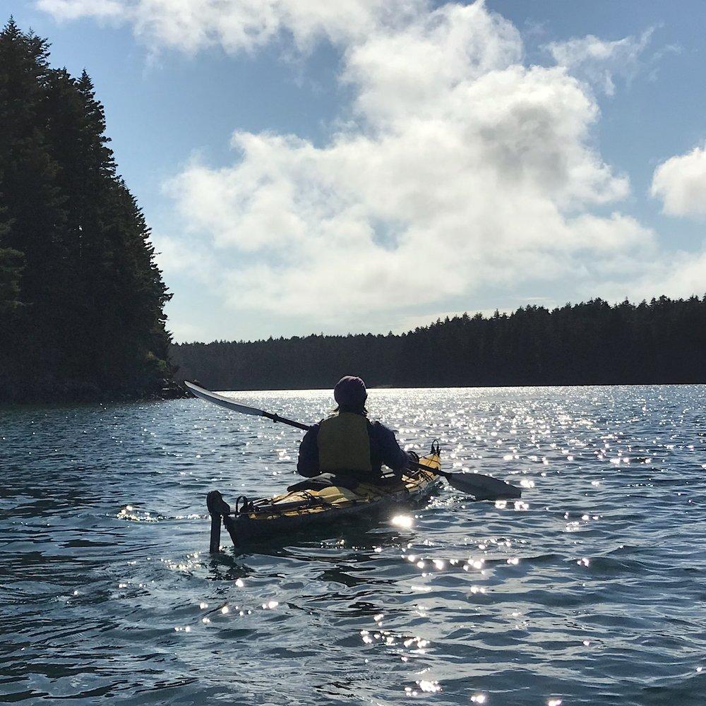 Kayaking & painting expedition, Shuyak Island, Alaska, 2018