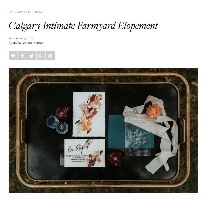 Intimate Farmyard Elopement // Rocky Mountain Bride
