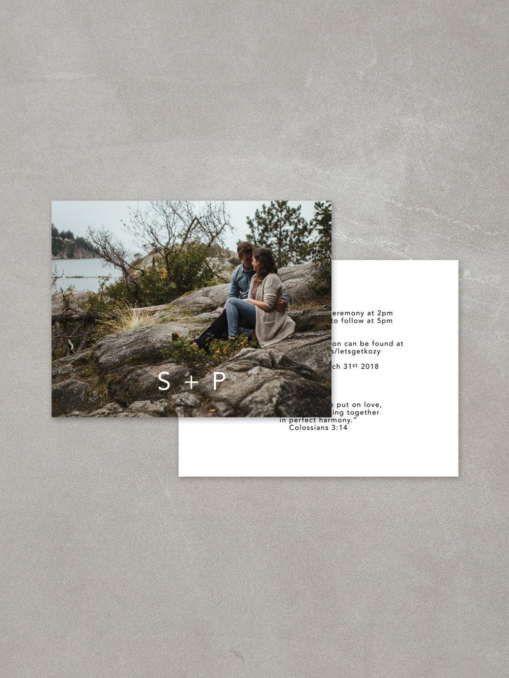 Forelsket // Details Card in ebony ink